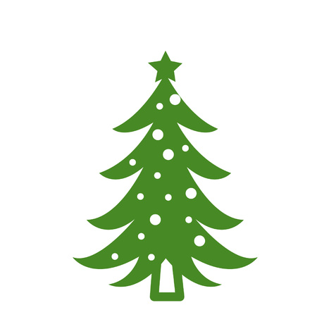 Green Christmas tree Vettoriali