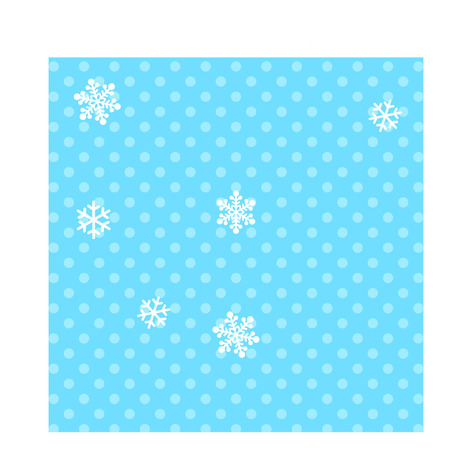 Background with snowflakes and polka dots