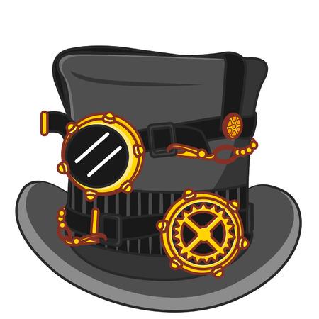 Cartoon steampunk hat