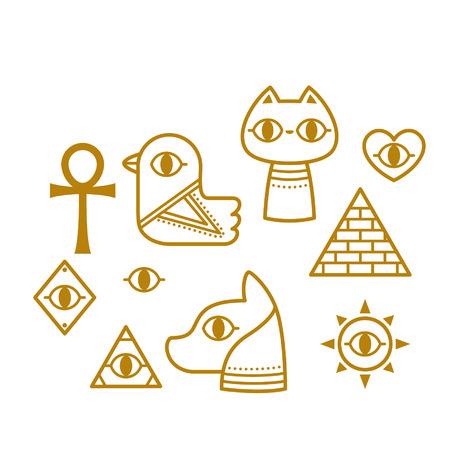 Cute Egyptian hieroglyphs