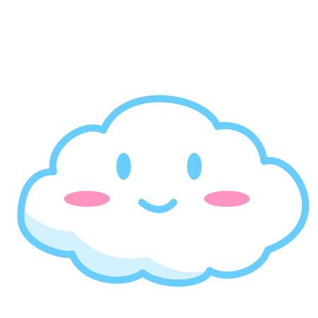 Smiling cloud concept