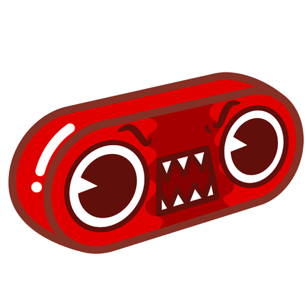 Portable speaker with angry facial expression 版權商用圖片 - 96458903