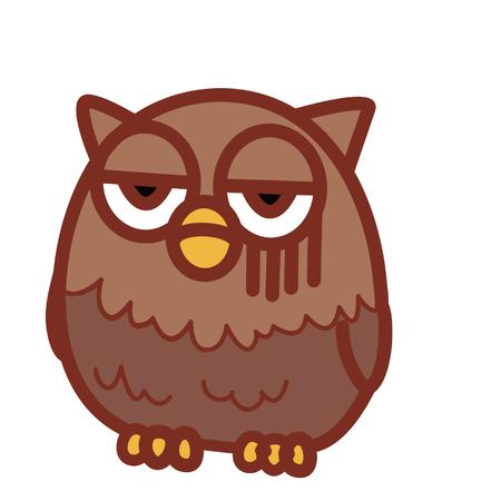 Unamused cartoon owl