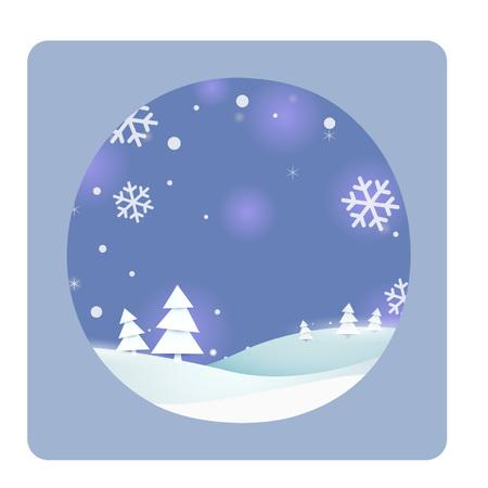 Cartoon outdoor winter scene Illustration
