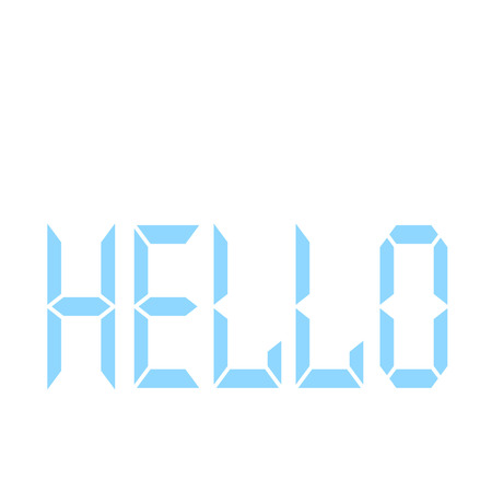 Hello word in digital style