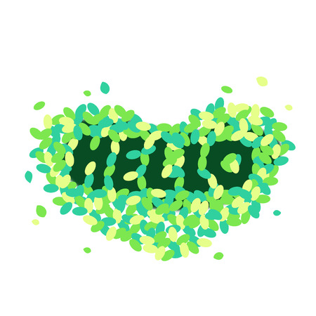 Hello text formed by leaves
