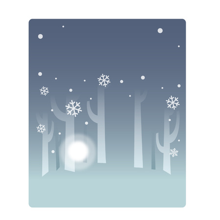 Snowing background concept Çizim