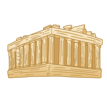 Cartoon Parthenon