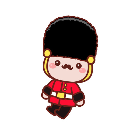 Cute cartoon royal guard