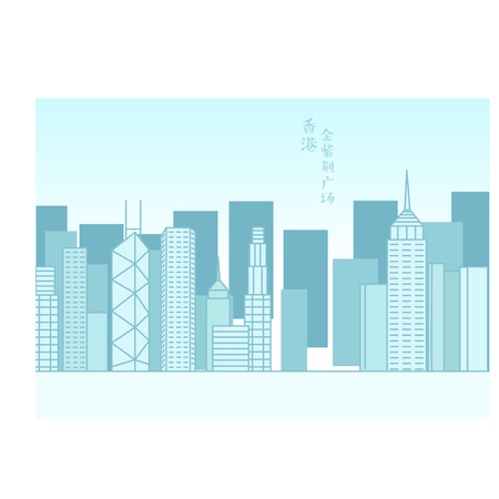 Hong Kong skyline background