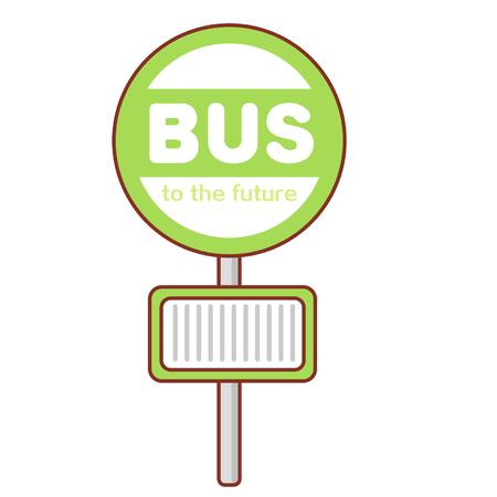 Bus signboard Illusztráció