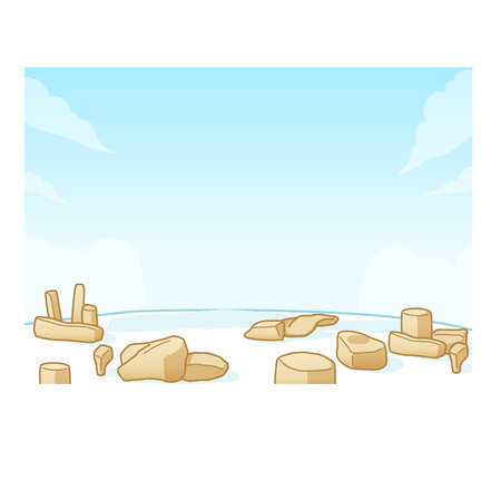 Rocks on the beach background