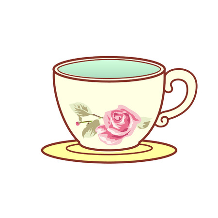 Cartoon english teacup 일러스트