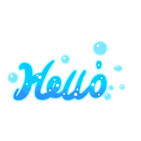 Cartoon hello text
