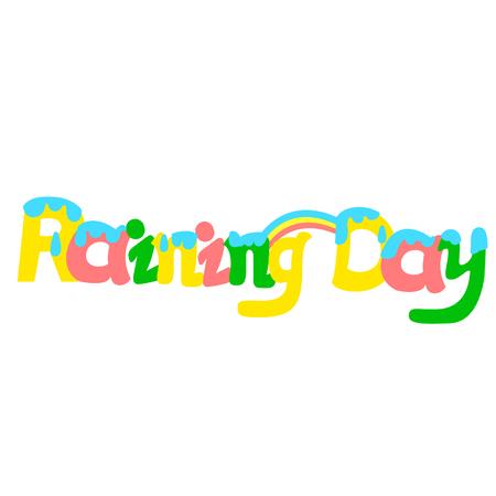 Raining Day text