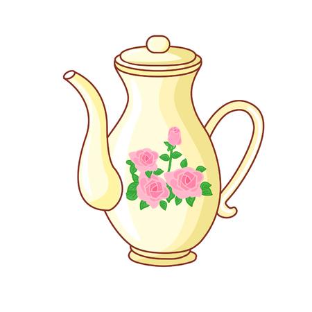 Cartoon english teapot Illustration