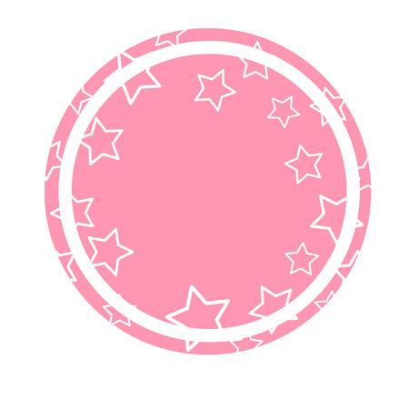 Round copyspace with stars