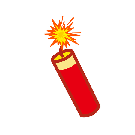 Cartoon firecracker Çizim