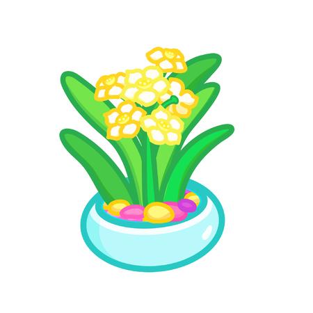Cartoon potted flowers Ilustrace