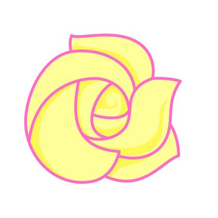 Cartoon yellow flower Ilustração