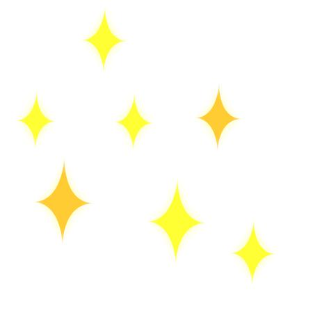 Cartoon sparkling effect  イラスト・ベクター素材