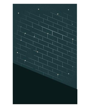 Brick wall design Ilustração