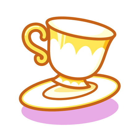 Cartoon cute tea cup