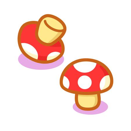 Cartoon cute mushrooms Çizim