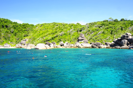Similan island, Island on the sea south of Thailand, attractions in Thailand.