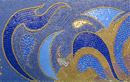Mosaic background image With a multi-colored pattern