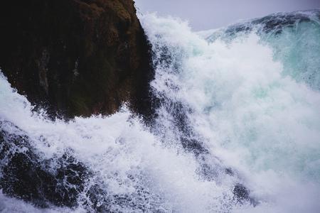 cataract waterfall: close up of enormous waterfall cascade cataract