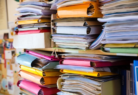 big colorful Stacks of paper and documents