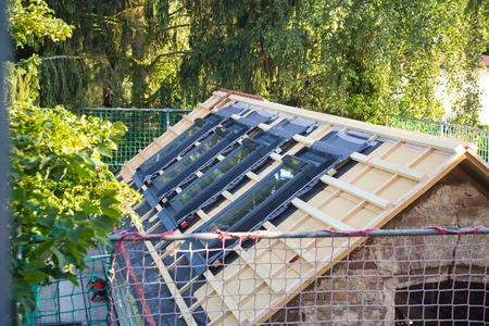 without windows: New roof coverings but without the skylights roof windows