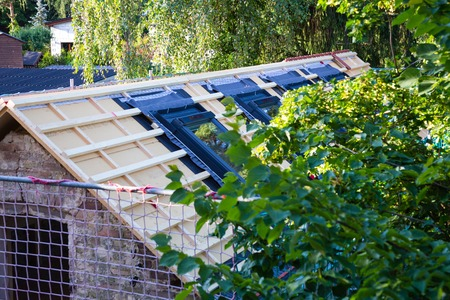 coverings: New roof coverings but without the skylights roof windows