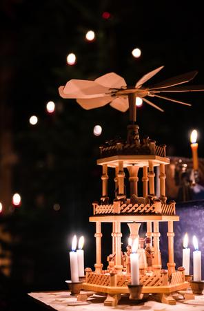 erzgebirge: german advent season christmas pyramid from Erzgebirge Stock Photo