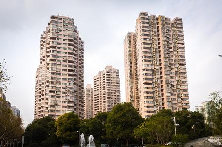 modern living: modern residential living towers of shanghai china