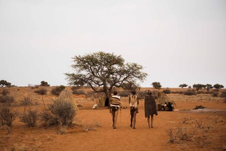 traditional tribe in African village of Namibia