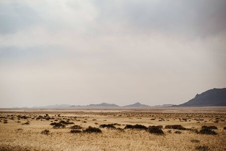 beautiful colorful landscape scenery at the Valley near Garub in Namibia, Africa. a tourist destination that could be a backdrop for wild western movies