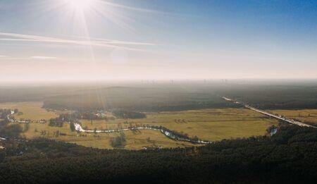 drone photo of the forest of Grunheide, Berlin-Brandenburg