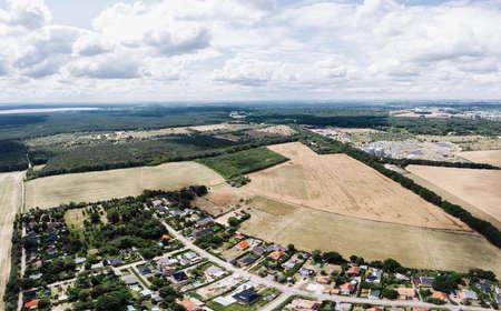 Aerial view of country houses in a European village Zdjęcie Seryjne