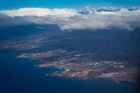 Beautiful View on Tenerife Island, Spanish tourism travel place in Europe