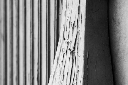 Wooden detail of an old building Stock Photo