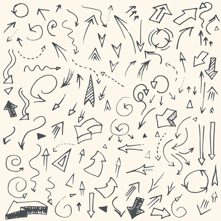 Perfekte Vintage einfache Hand gezeichnete Pfeile in Vektor. Voll editierbare Business-Design-Element. Standard-Bild - 35331216