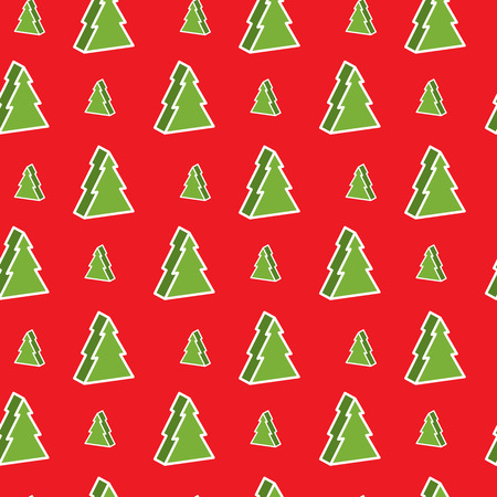 christmastree: Seamless red and green christmas-tree pattern