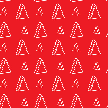 christmastree: Seamless red christmas-tree pattern