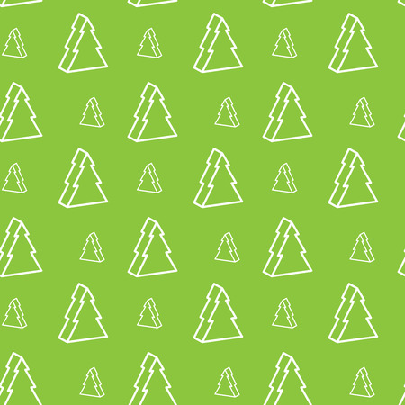 christmastree: Seamless green christmas-tree pattern