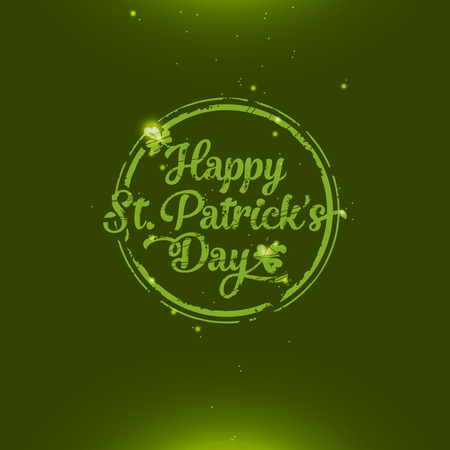Amazing glossy and shiny Saint Patrick Vector
