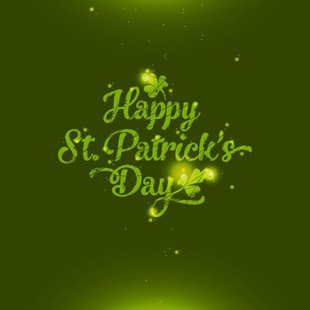 Amazing glossy and shiny Saint Patrick Vector