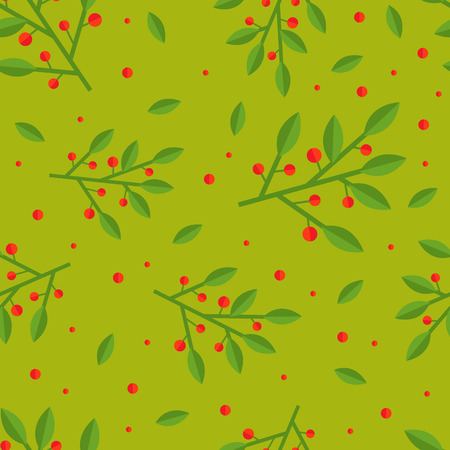 cowberry: Cute and simple cowberry seamless pattern. Flat style. Illustration