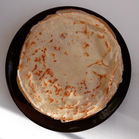 maslenitsa: Traditional Russian maslenitsa pancakes Stock Photo